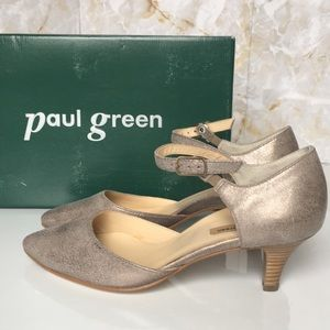 Paul Green Pointed Toe Ankle Strap Pumps
